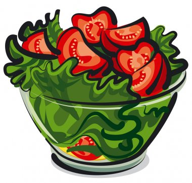 salad with tomatoes