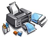 ilustrace z inkoustové tiskárny