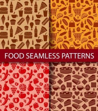 illustration of the cocktails seamless patterns