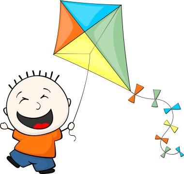Child playing kite