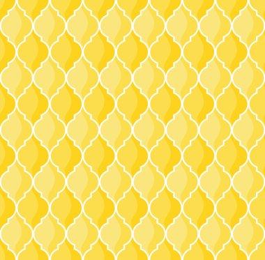 Moroccan geometric seamless pattern in yellow tones clip art vector