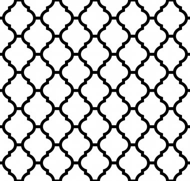 Moroccan pattern black and white