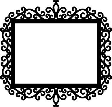 decorative frame silhouette