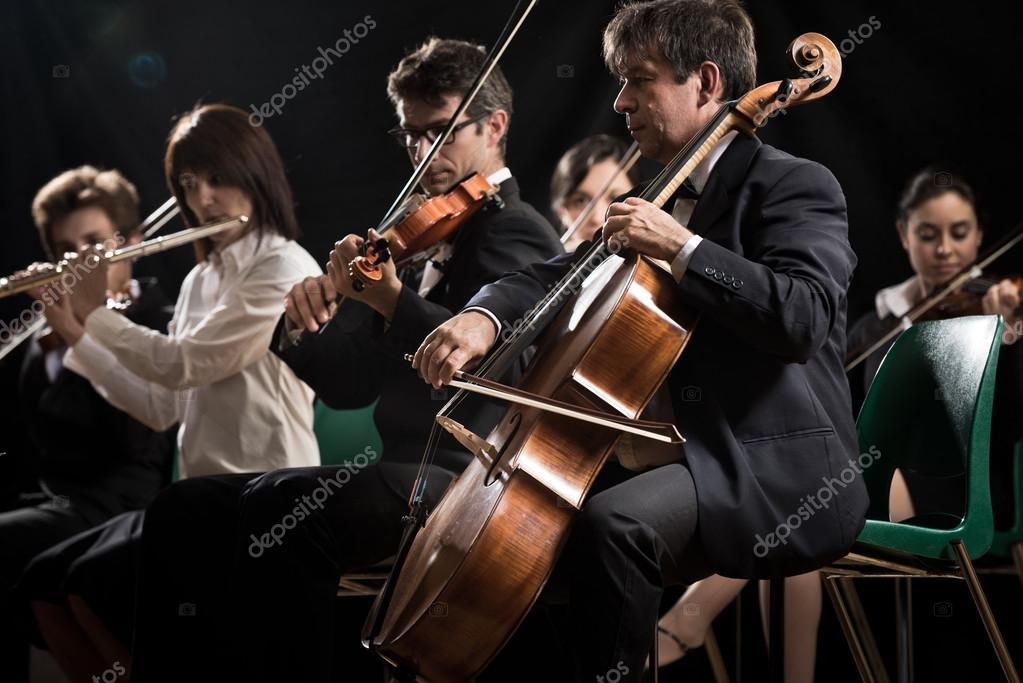 Concerto de m sica cl ssica orquestra sinf nica no palco for Musica classica