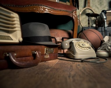 Group of vintage objects