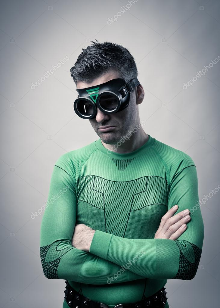 superhero with arms folded