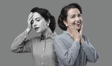 Woman expression changing
