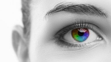 Woman's colorful eye