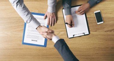Employer hiring candidate