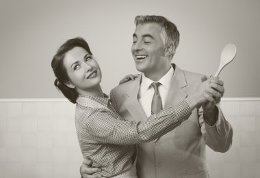 vintage couple dancing