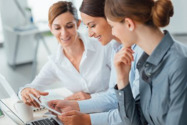 business women team working