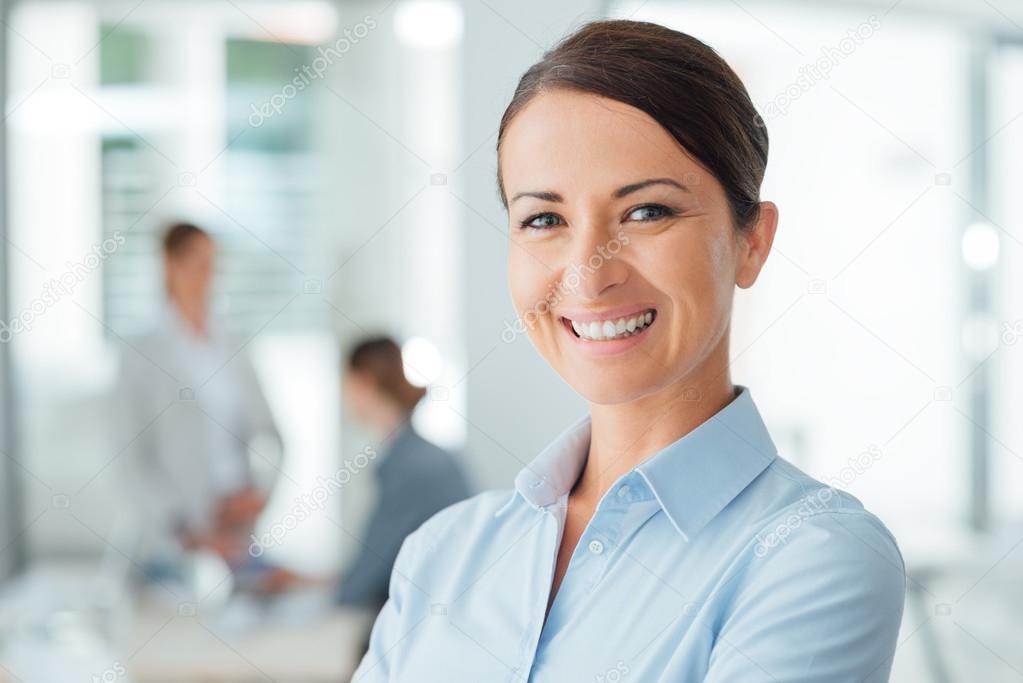 Successful businesswoman posing