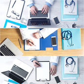 Photo Doctor sitting at office desk