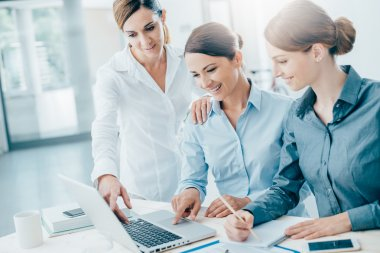 Business women team working