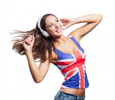 Cheerful pop girl dancing