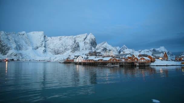 Zimní krajina Norska Lofoten ostrovy