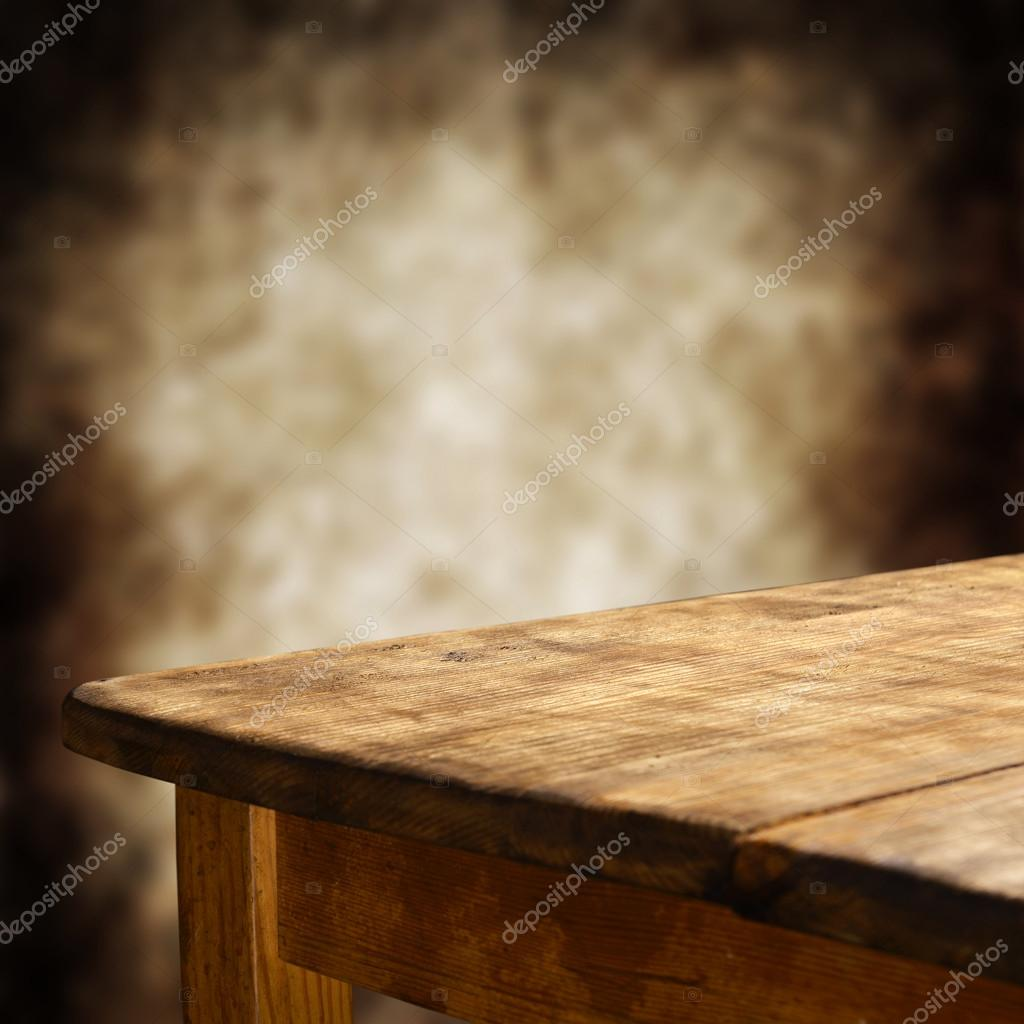 Empty wooden table