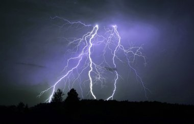 Dangerous thunderstorm  at night