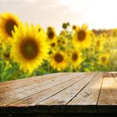 Prázdná tabulka s květinami