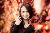 Fényképek Gyönyörű őszi portré