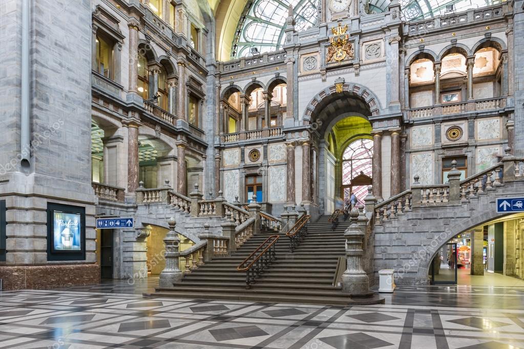 C l bre art d co int rieure principale gare d 39 anvers for Art deco interieur