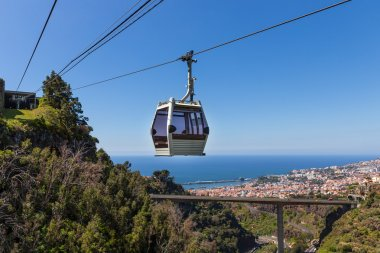 Cable car to Monte at Funchal, Madeira Island, Portugal