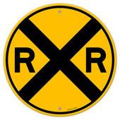 Značka žlutá železniční
