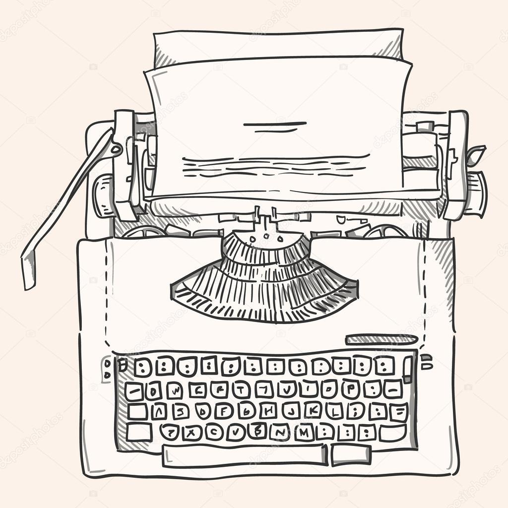 12 Oldtimer Schreibmaschinenvektor 10