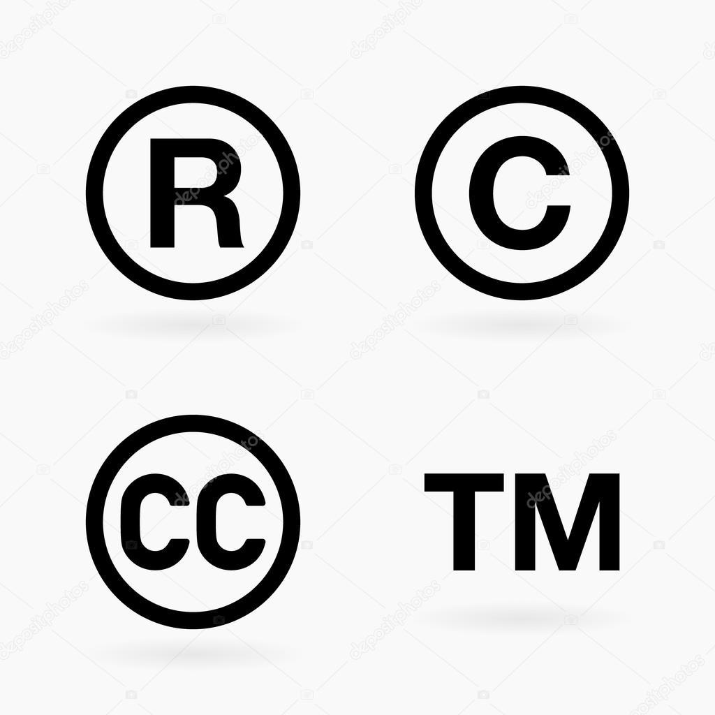 Intellectual Property Copyright: Набор символов интеллектуальной собственности