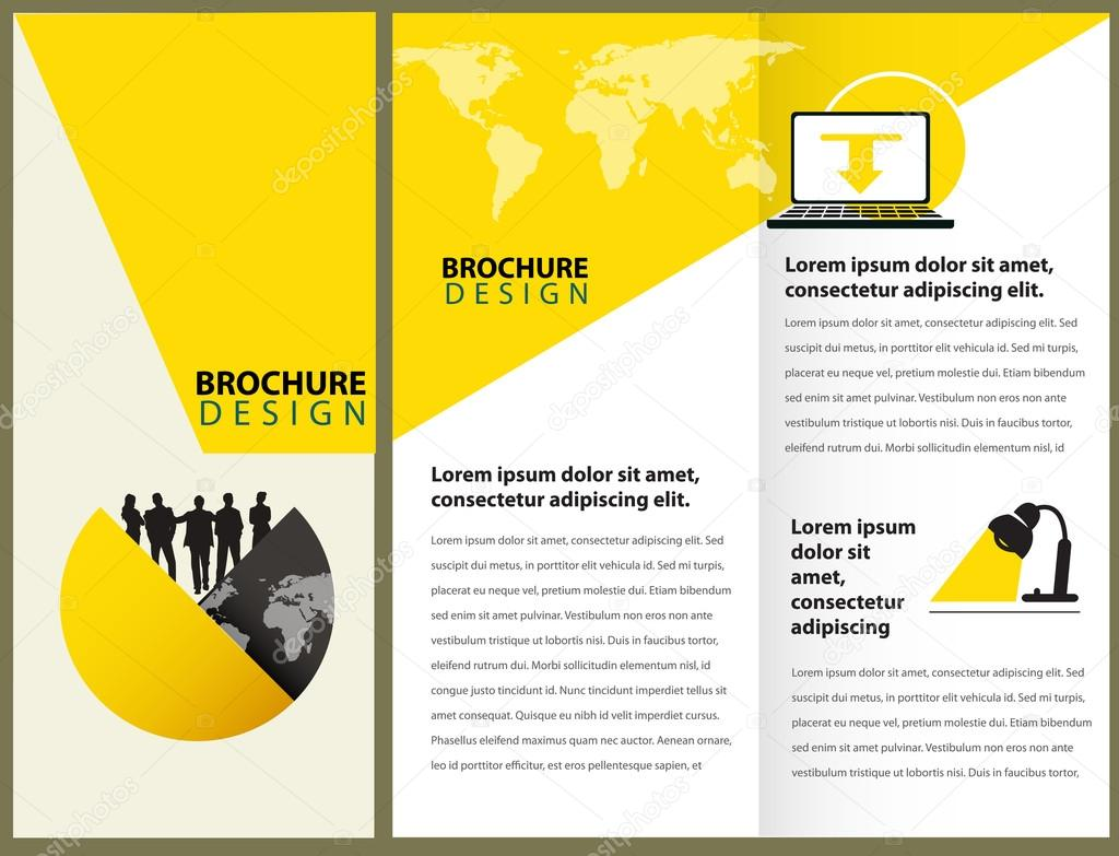 Vector Brochure Layout Design — Stock Vector © timea #85259642