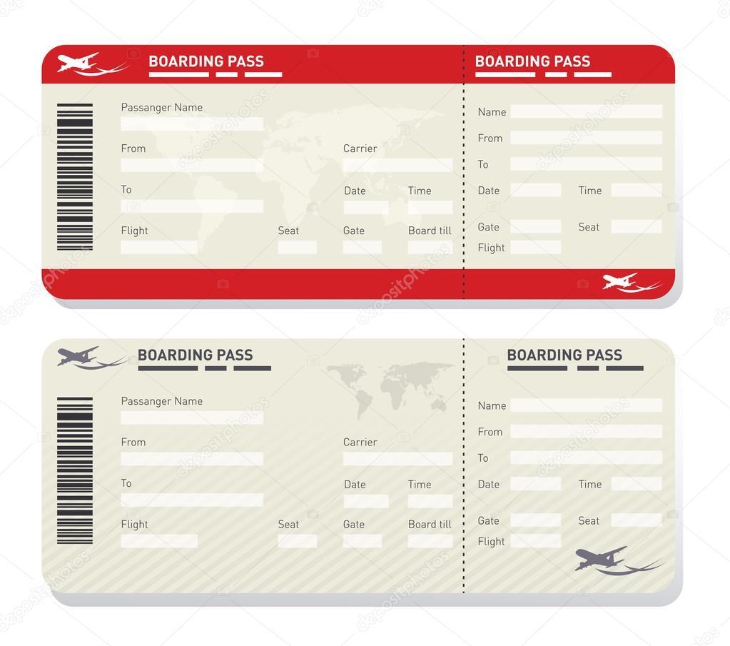 Airline Ticketvorlage — Stockvektor © levente #124412322