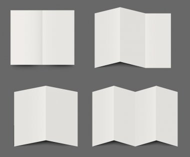 Vector templates of folded brochures