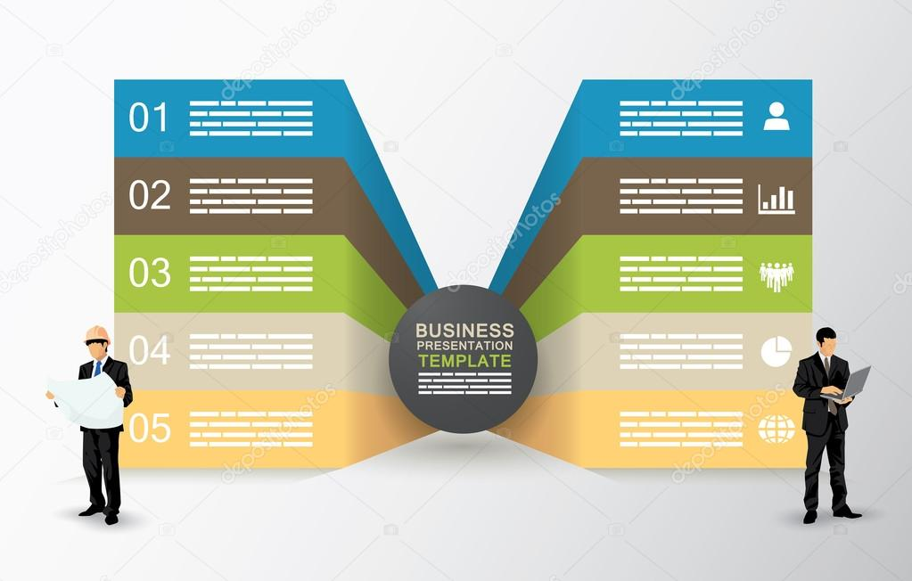 Two sided presentation template