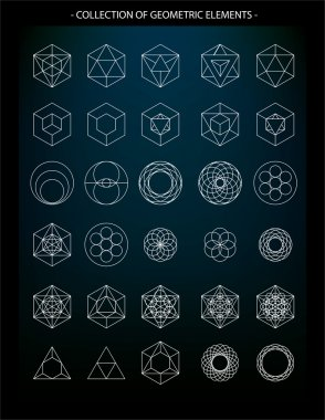 Collection of geometric icons