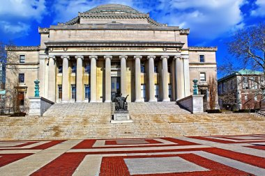 Columbia University in New York City at blue sky