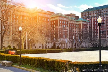 Columbia University in New York City at sunset