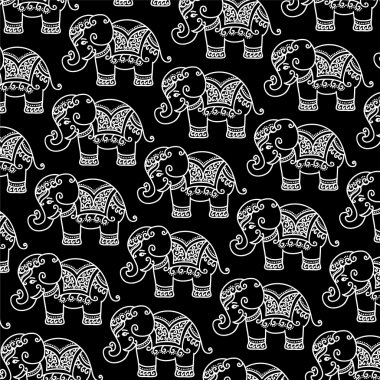 Decorative Indian Elephant pattern