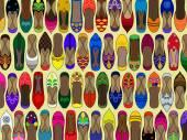 Fotografie Muster der traditionellen indischen (Schuhe) juttis