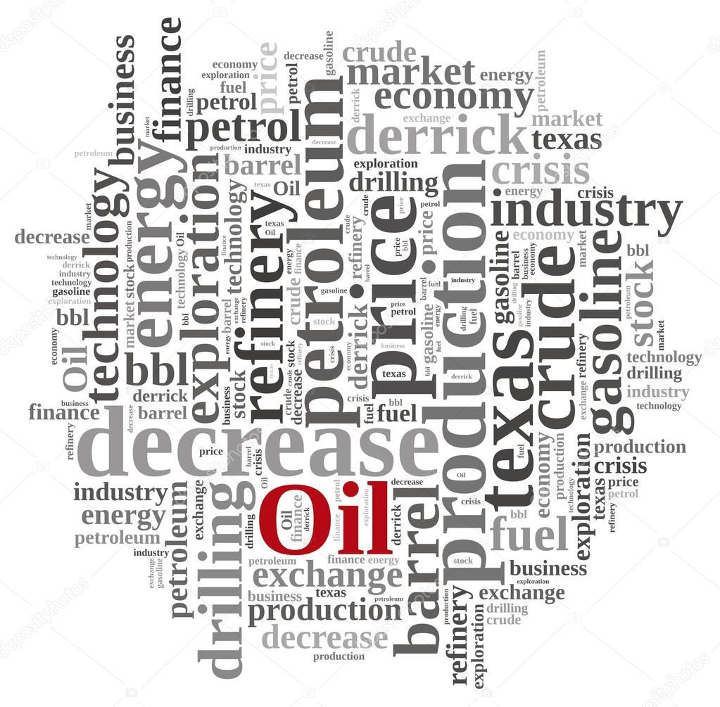 Word Cloud On The Price Of Oil Stock Photo Stockphotoastur