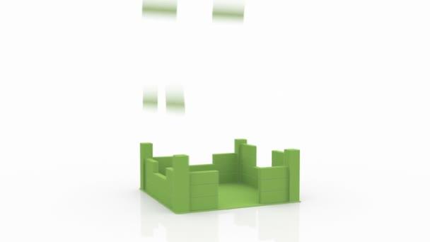 Zöld ház építése