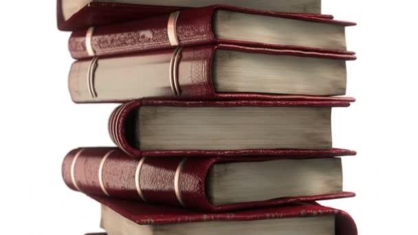 Červená kniha leathered zásobník s diplomem