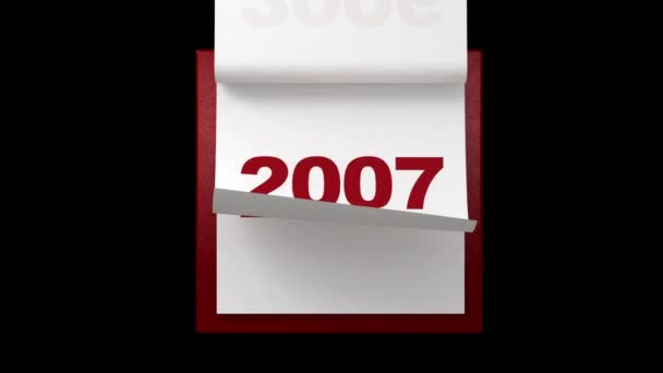 Turning pages in yearly calendar