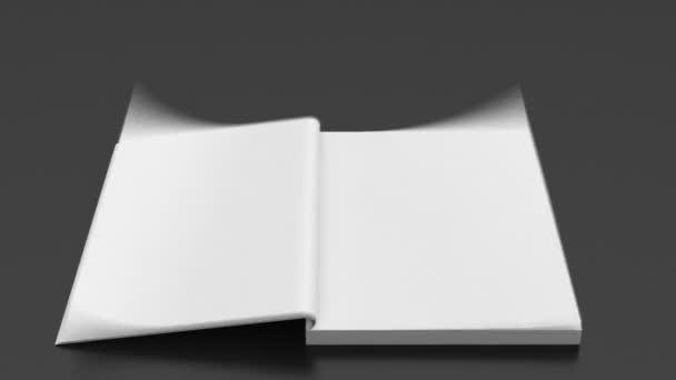prázdné stránky rychle obracející Poznámkový blok