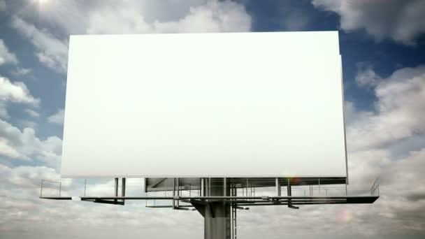 Billboard s zamračená obloha
