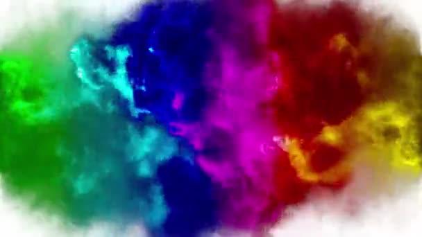 Rainbow explosion