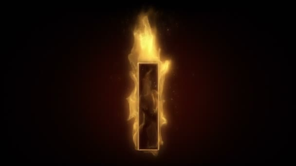 Fiery letter i burning