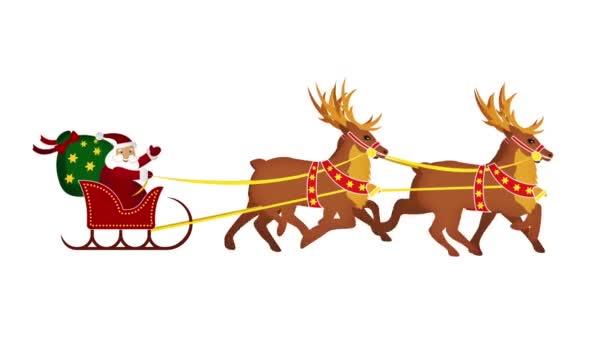 Santa köszönti Önt rénszarvasok