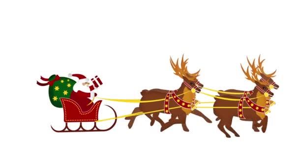 Weihnachtsmann mit rentieren