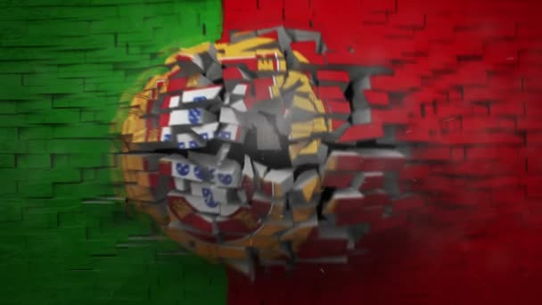 Portekiz bayrağı ile patlayan duvar