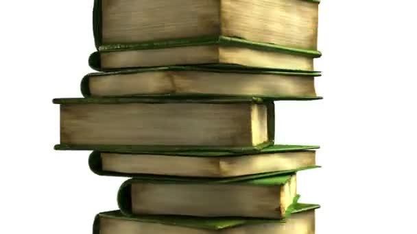 Diplom roll on books stack